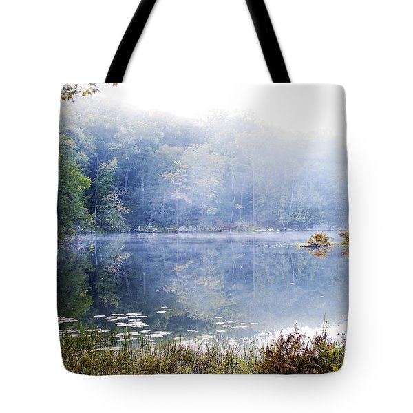 Misty Morning At John Burroughs #1 Tote Bag by Jeff Severson