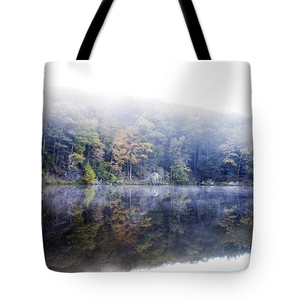 Misty Morning At John Burroughs #2 Tote Bag by Jeff Severson