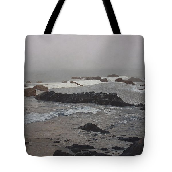 Misty Morning At Ragged Point, California Tote Bag