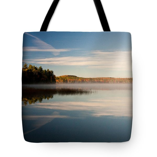 Tote Bag featuring the photograph Misty Morning by Brent L Ander