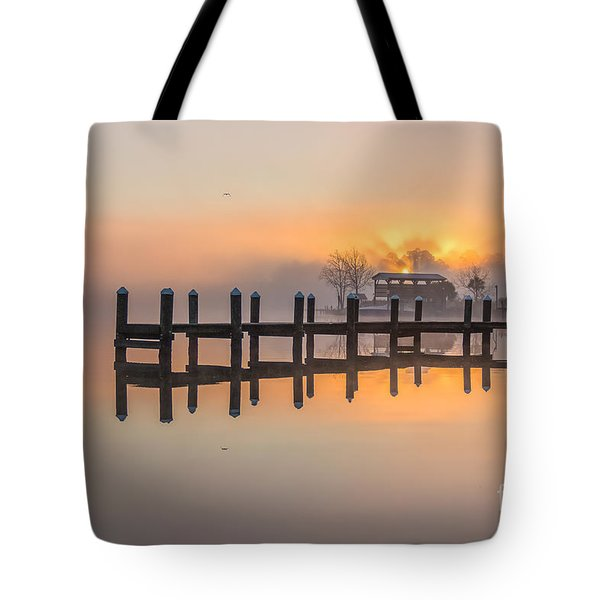 Misty Morning Tote Bag by Brian Wright