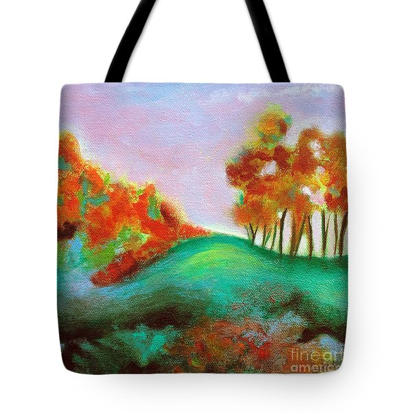 Misty Morning Tote Bag by Elizabeth Fontaine-Barr