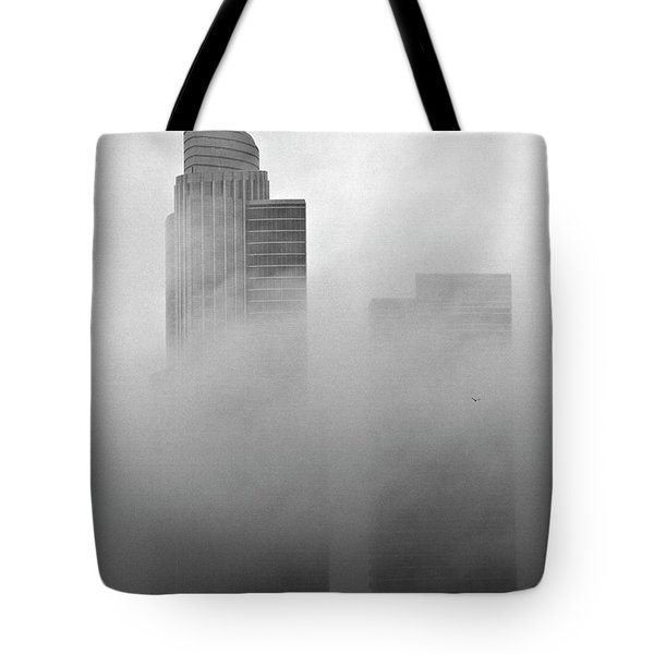 Misty Morning Flight Tote Bag