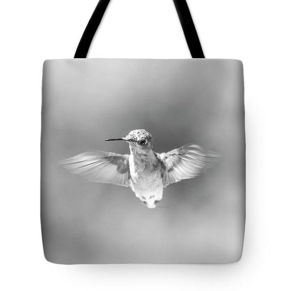 Misty Morning Hummingbird Tote Bag