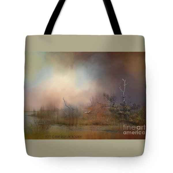 Misty Morning Tote Bag by Kathy Russell