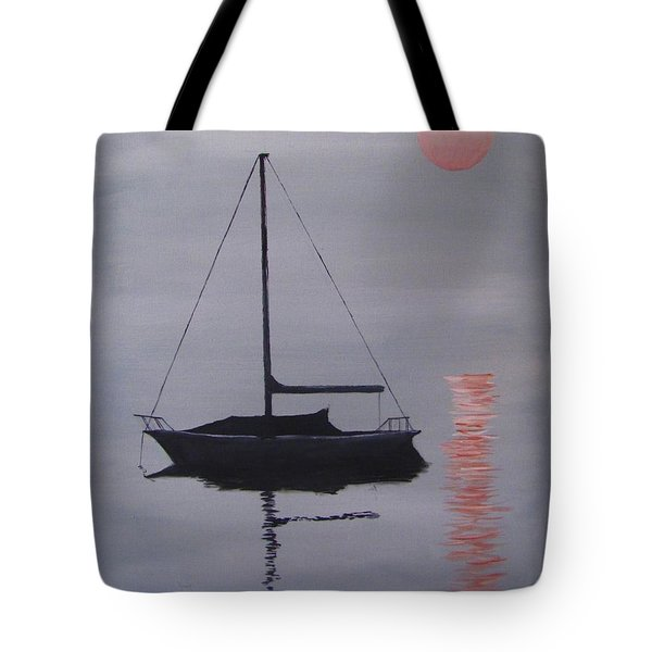 Misty Morning Mooring Tote Bag