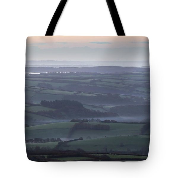 Misty Morning On Exmoor  Tote Bag
