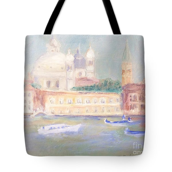 Tote Bag featuring the painting Misty Morning On The Canale Grande by Barbara Anna Knauf