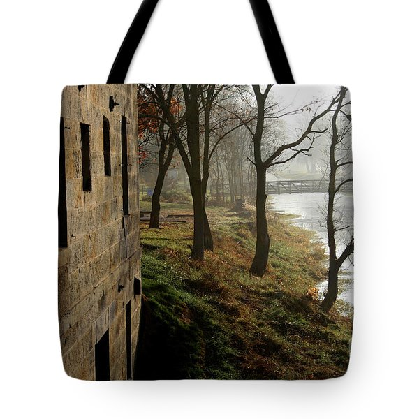 Misty Morning On The Illinois Michigan Canal  Tote Bag