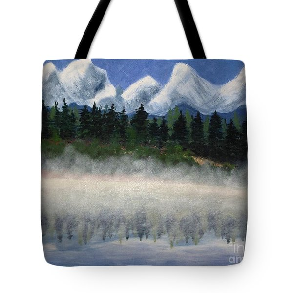Misty Morning On The Mountain Tote Bag