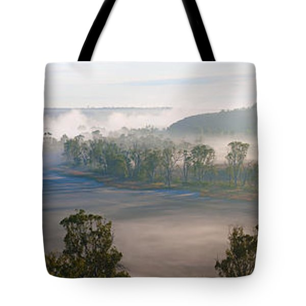 Misty Morning On The Murray Tote Bag