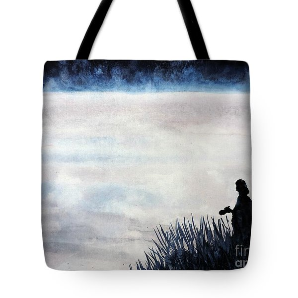 Misty Morning Photographer Tote Bag by Tom Riggs