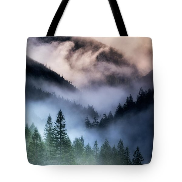 Misty Mornings Tote Bag by Nicki Frates