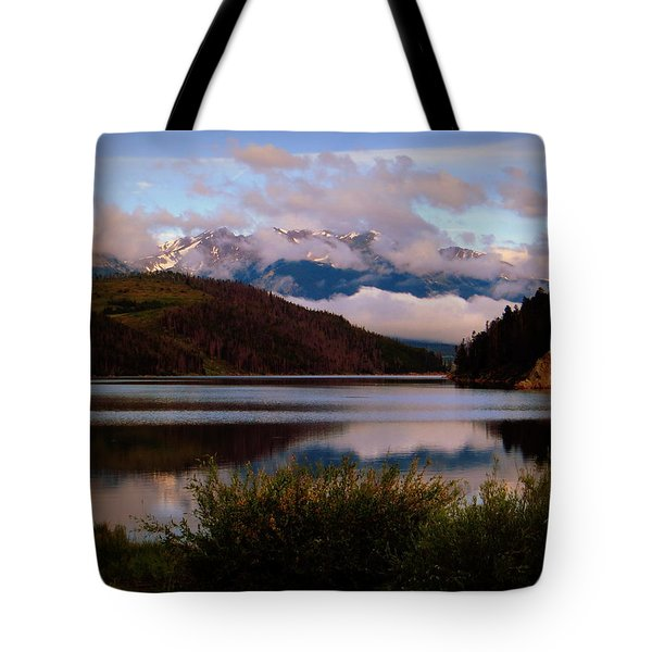 Misty Mountain Morning Tote Bag by Karen Shackles