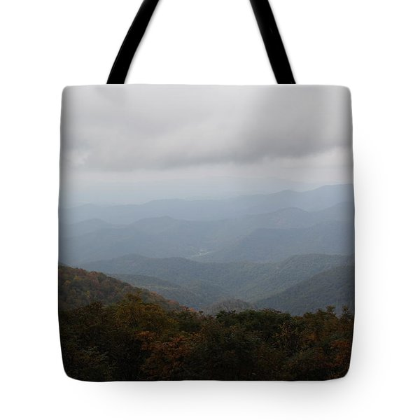 Misty Mountains More Tote Bag