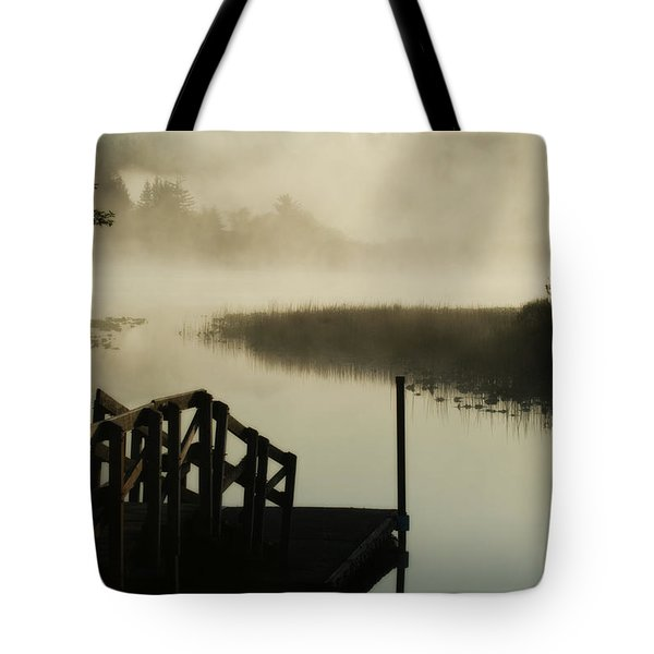 Misty Oregon Morning Tote Bag