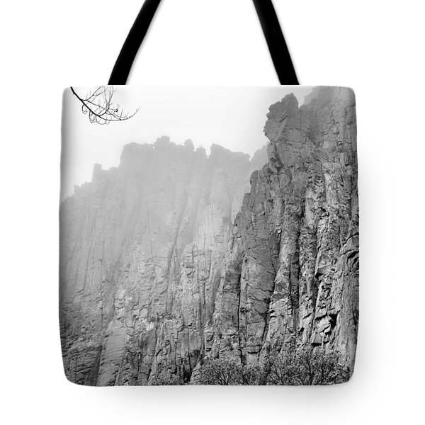 Misty Palisades Tote Bag