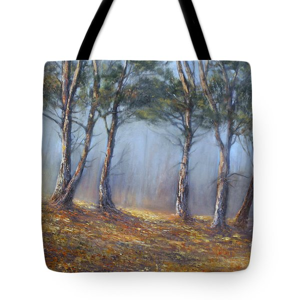 Misty Pines Tote Bag by Valerie Travers