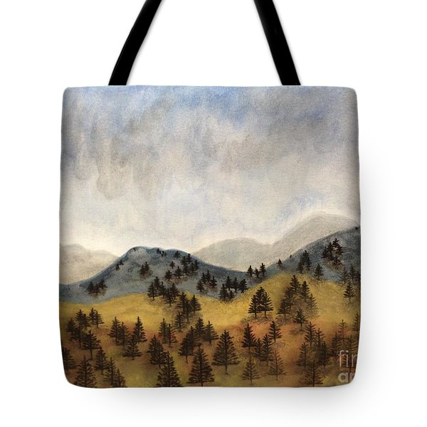 Misty Rain On The Mountain Tote Bag