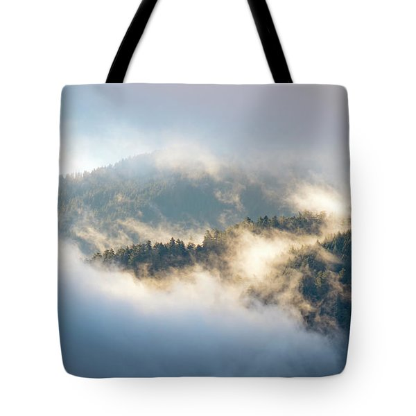 Tote Bag featuring the photograph Misty Ridge 2 by Michael Hope
