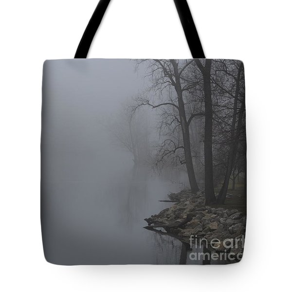 Misty River Tote Bag