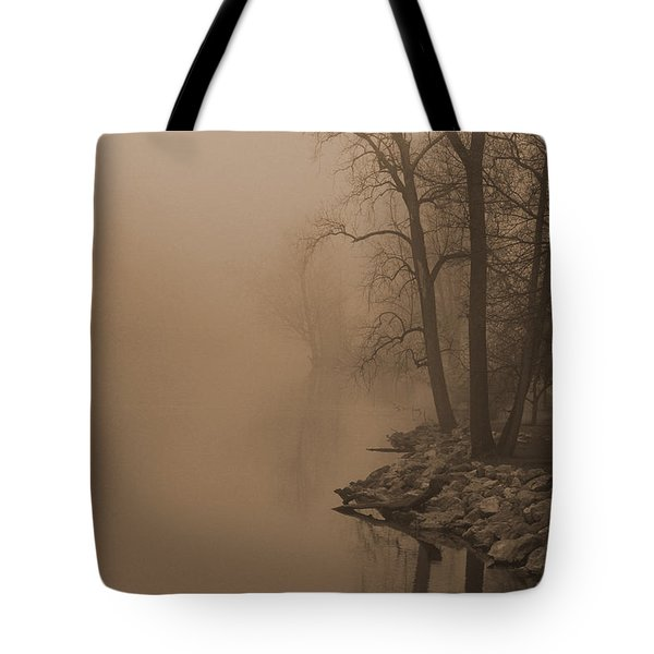 Misty River - Vintage  Tote Bag