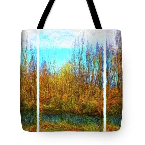 Misty River Vistas - Triptych Tote Bag