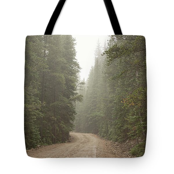 Tote Bag featuring the photograph Misty Road by James BO Insogna