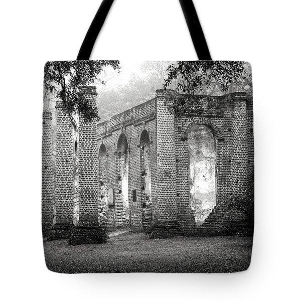 Misty Ruins Tote Bag