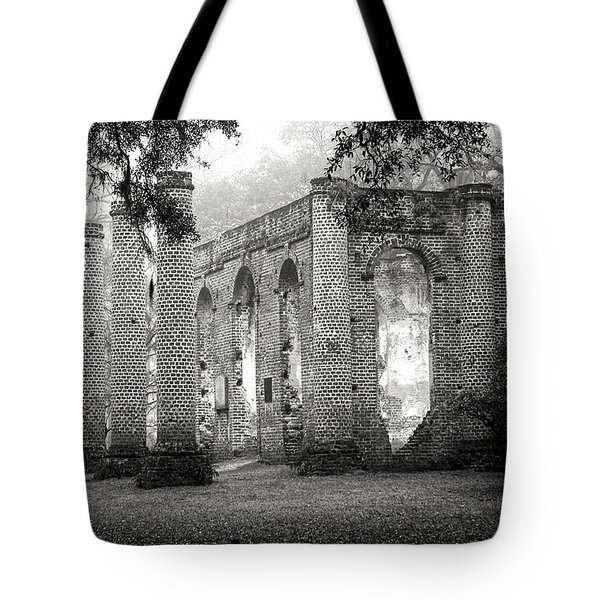 Misty Ruins Tote Bag