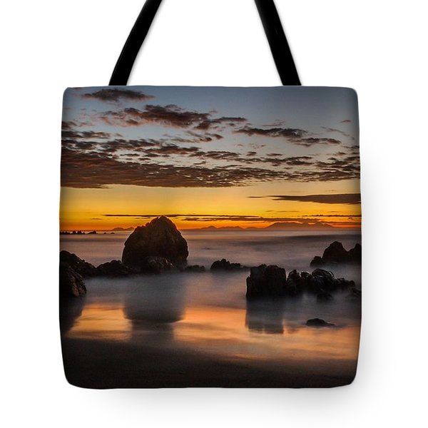 Misty Seascape Tote Bag