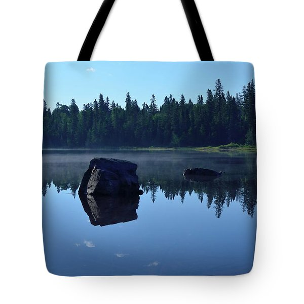 Misty Summer Morning Tote Bag