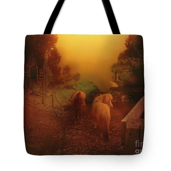Misty Sundown Tote Bag