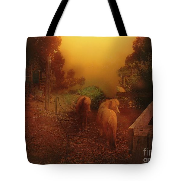 Misty Sundown Tote Bag