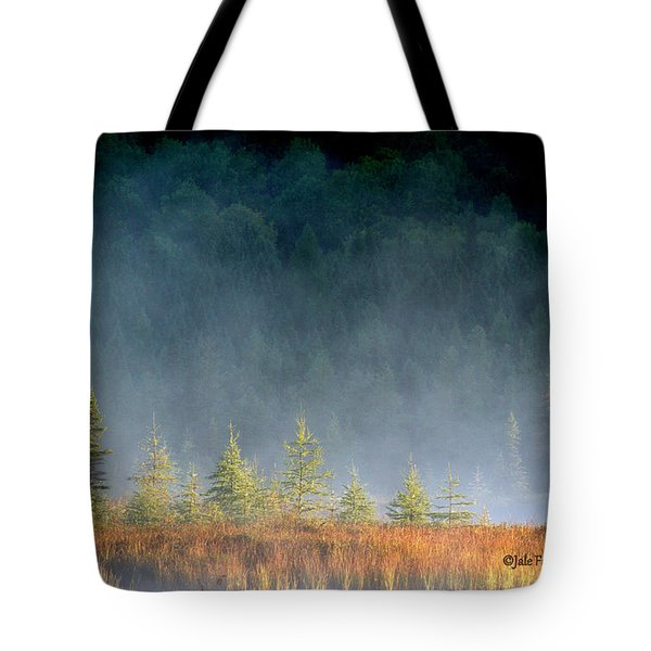 Misty Sunrise At Costello Creek Tote Bag