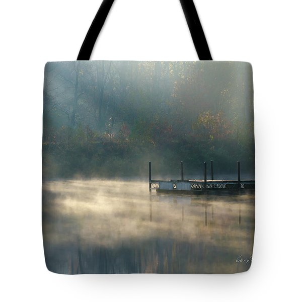 Tote Bag featuring the photograph Misty Sunrise by George Randy Bass