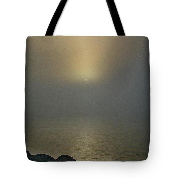 Misty Sunrise Morning Tote Bag
