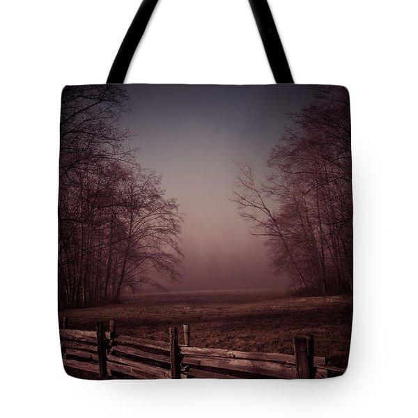 Misty Walk Tote Bag