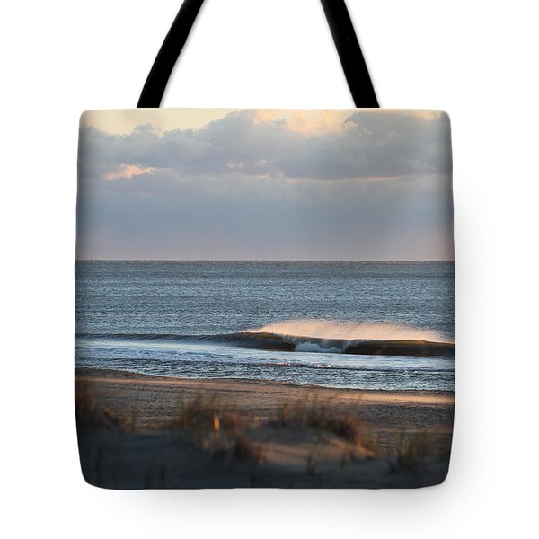 Misty Waves Tote Bag