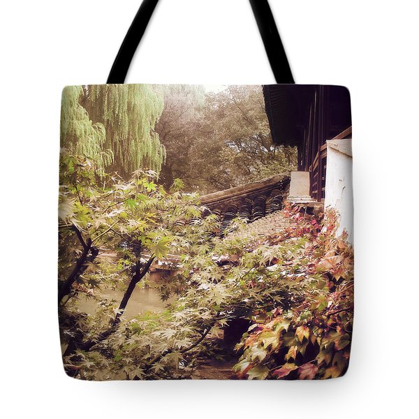 Misty Willows Tote Bag
