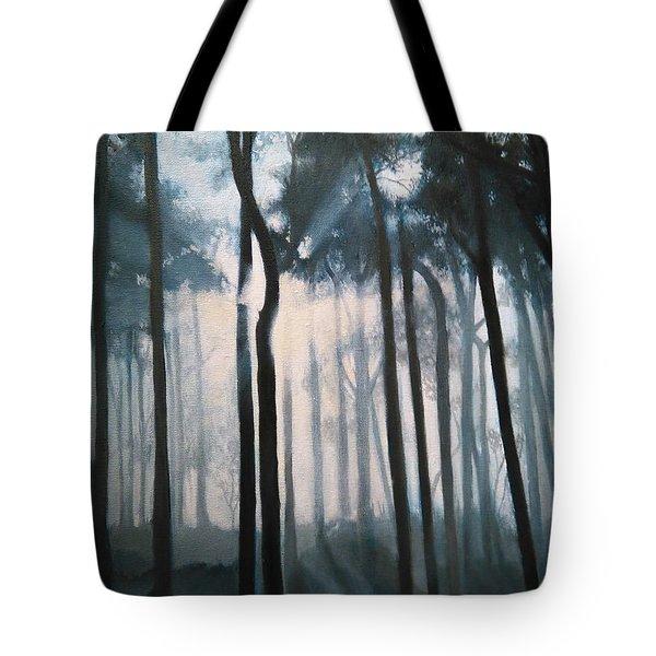 Misty Woods Tote Bag