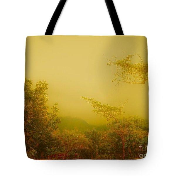 Misty Yellow Hue- El Valle De Anton Tote Bag