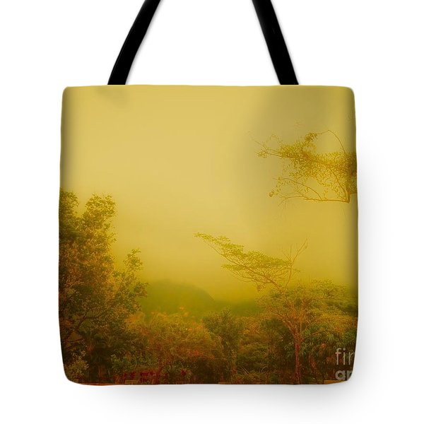 Misty Yellow Hue- El Valle De Anton Tote Bag