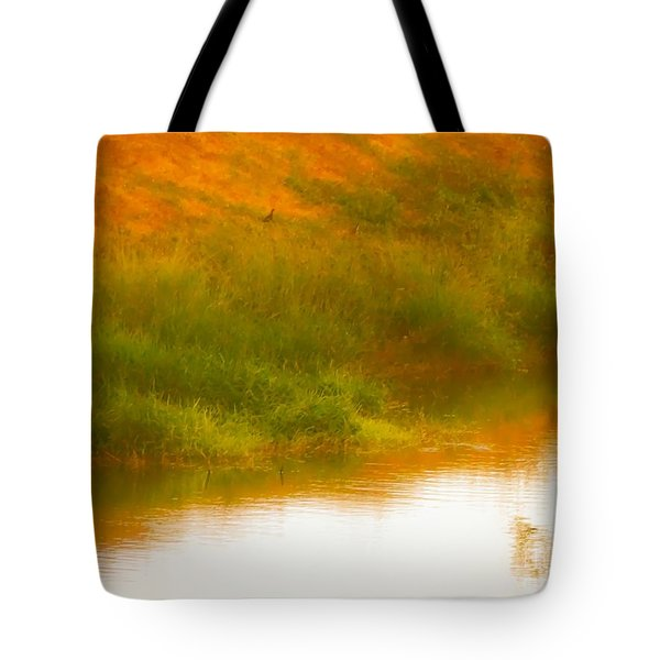Misty Yellow Hue -lone Jacana Tote Bag
