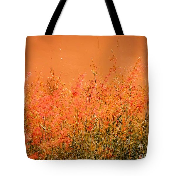 Misty Yellow Hue- Pink Blooms Tote Bag