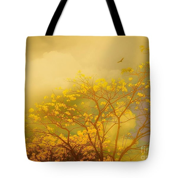 Misty Yellow Hue -poui Tote Bag