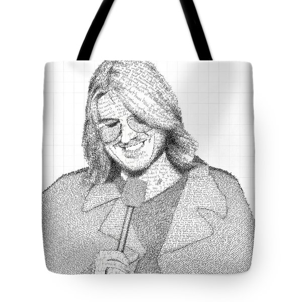 Mitch Hedberg In His Own Jokes Tote Bag by Phil Vance