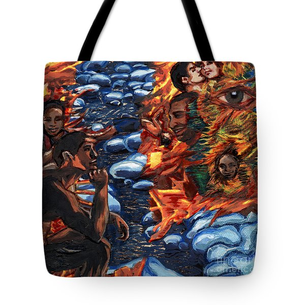 Mitosis Microbiology Landscapes Series Tote Bag by Emily McLaughlin