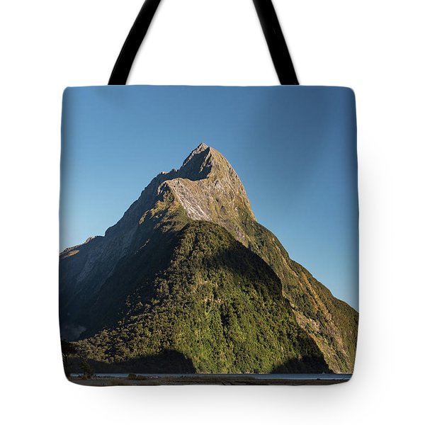 Tote Bag featuring the photograph Mitre Peak Rahotu by Gary Eason