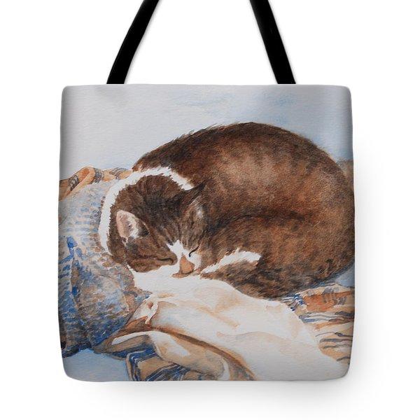 Mitsie On Greg's Sweater Tote Bag